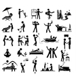 relaxation icon set vector image vector image
