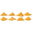 sand piles yellow sandy heap construction vector image vector image