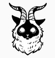 scary mystical cat with horns vector image