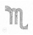 scorpio zodiac sign hand drawn horoscope vector image vector image