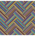Seamless knitted pattern Multicolored template vector image vector image