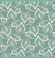 seamless leaves lace pattern on blue background vector image