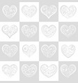 seamless pattern of squares with hearts vector image vector image