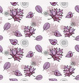 seamless pattern with romantic floral background vector image vector image