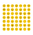 set of emoticons avatars big collection with vector image vector image