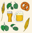set of octoberfest food and drink vector image