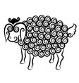 Sheep decorative vector image vector image