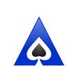 spade ace triangle symbol logo design vector image