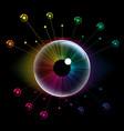 spectrum eye vector image