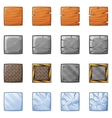 Square Blocks For Physics Game 1 vector image vector image