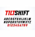 Tilt shift lens style font with blur effect