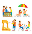 tourism vacation in different corners in world vector image vector image