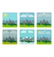 Weather in flat style vector image vector image