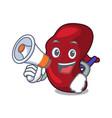 with megaphone spleen character cartoon style vector image vector image