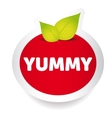 Yummy food label vector image vector image