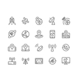 Line Satellite Icons vector image