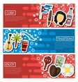 Set of Horizontal Banners about Cuba vector image
