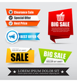 045 Collection of web tag banner for promotion vector image vector image
