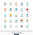 Abstract logo set for business company Healthcare vector image vector image