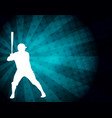 baseball player silhouette on the abstract vector image vector image