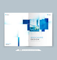blue cover template layout design corporate vector image vector image