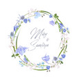 blue herb wreath vector image