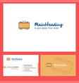 briefcase logo design with tagline front and vector image