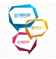 Bubble Speech Banner Card Set vector image vector image