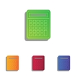 Calculator simple sign Colorfull applique icons vector image vector image