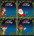 christmas night card template vector image vector image
