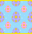 colorful seamless pattern of sweet easter eggs on vector image vector image