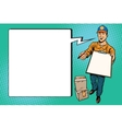 Courier delivery service mail and parcels vector image vector image