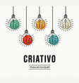 creative teamwork ideas portuguese design concept vector image