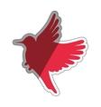 Cute bird silhouette vector image vector image