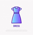 dress thin line icon vector image