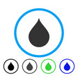 drop rounded icon vector image vector image