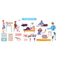 employment and labor flat set vector image