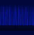empty stage with dark blue curtain seamless vector image