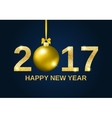 Gold glitter Happy New Year 2017 background vector image vector image