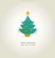 graphic christmas trees for design vector image