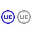 grunge lie textured stamps vector image vector image
