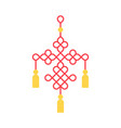 hanging chinese knot for lunar new year vector image vector image