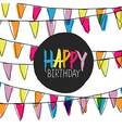happy birthday pennant bunting vector image vector image