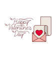 happy valentines day label isolated icon vector image