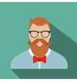 Hipster flat character vector image vector image