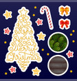 holiday gift stickers with hand lettering we wish vector image