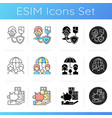 insurance and protection icons set vector image