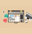 job search icon design vector image vector image