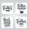 lettering for fathers day set vector image vector image