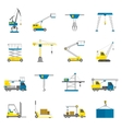 Lifting Equipment Flat Icon Set vector image vector image